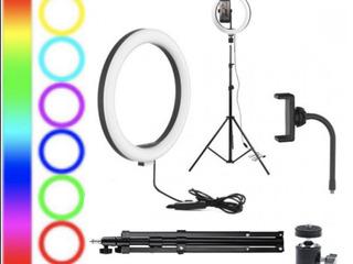 LED Лампа RGB LED MJ 33 + Штатив Лампа LED RGB для тик-ток tik-tok tik Tok