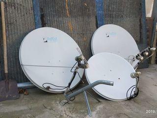 Продам 3 спутниковые тарелки, ресивер.