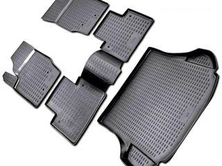 Скидка 10%. Полиуретановые коврики c бортами для салона и багажника. Novline-Element