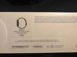 Apple Watch 4 Space Gray 44mm GPS