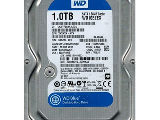 "Продам HDD 1TB Seagate, WD 1.5TB, WD 160гб 10K 32М 3.5"" и 2.5"" от 120гб до 500гб"