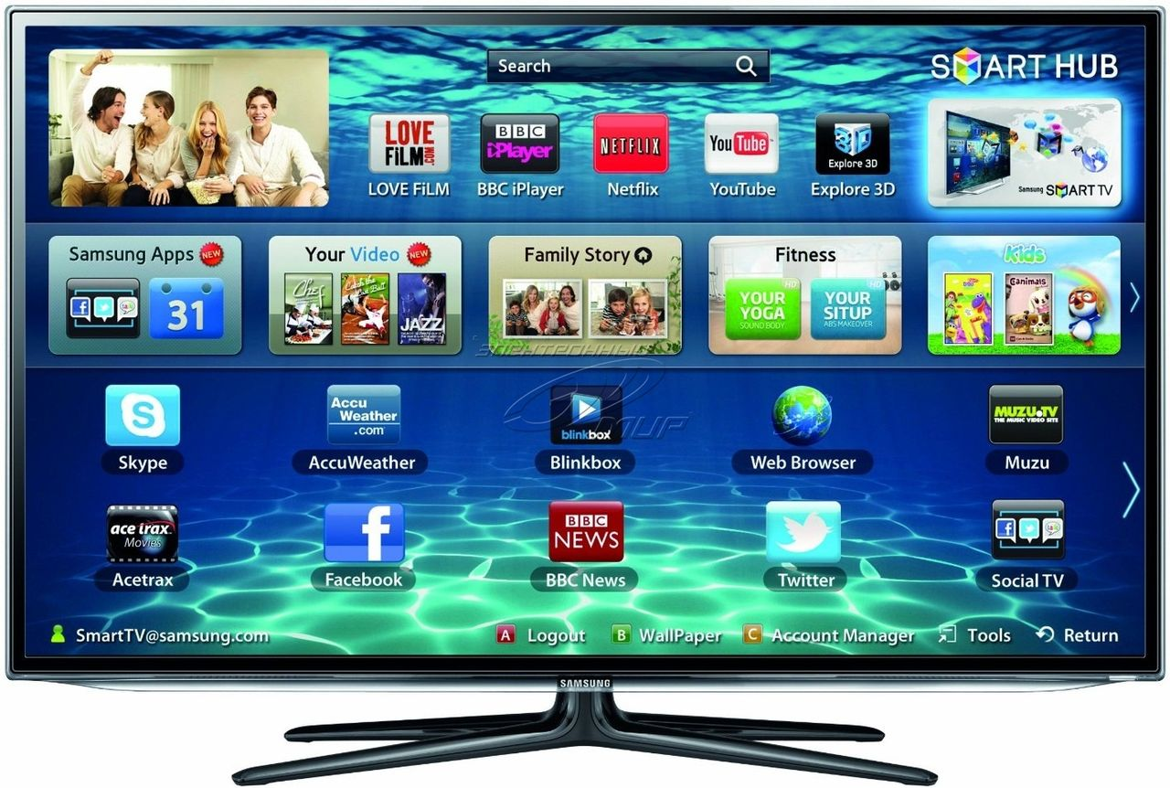 где находится самсунг аппс в телевизоре самсунг 5510 если