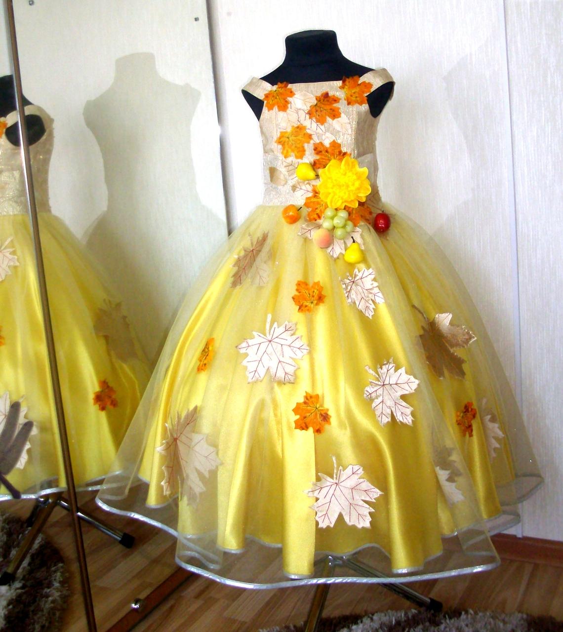 Детское платье на осенний бал своими руками 42