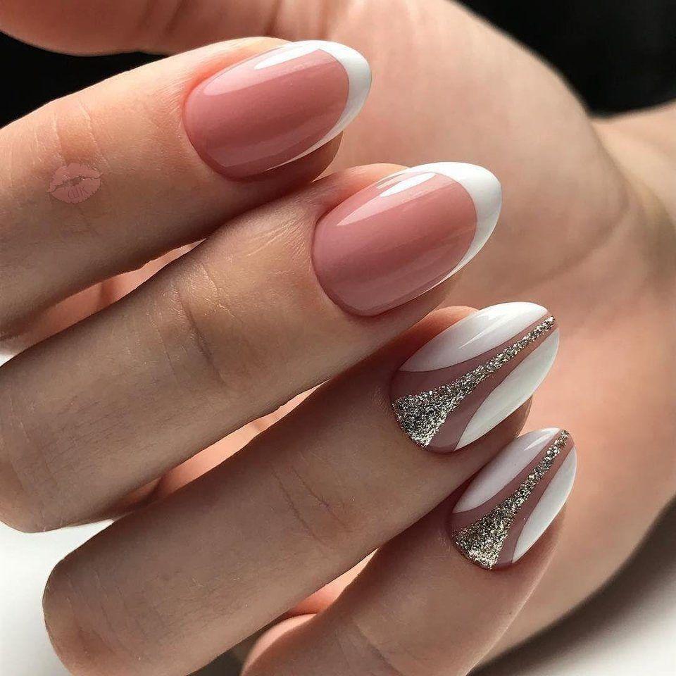 Идеи маникюра на овальные ногти (51 фото)