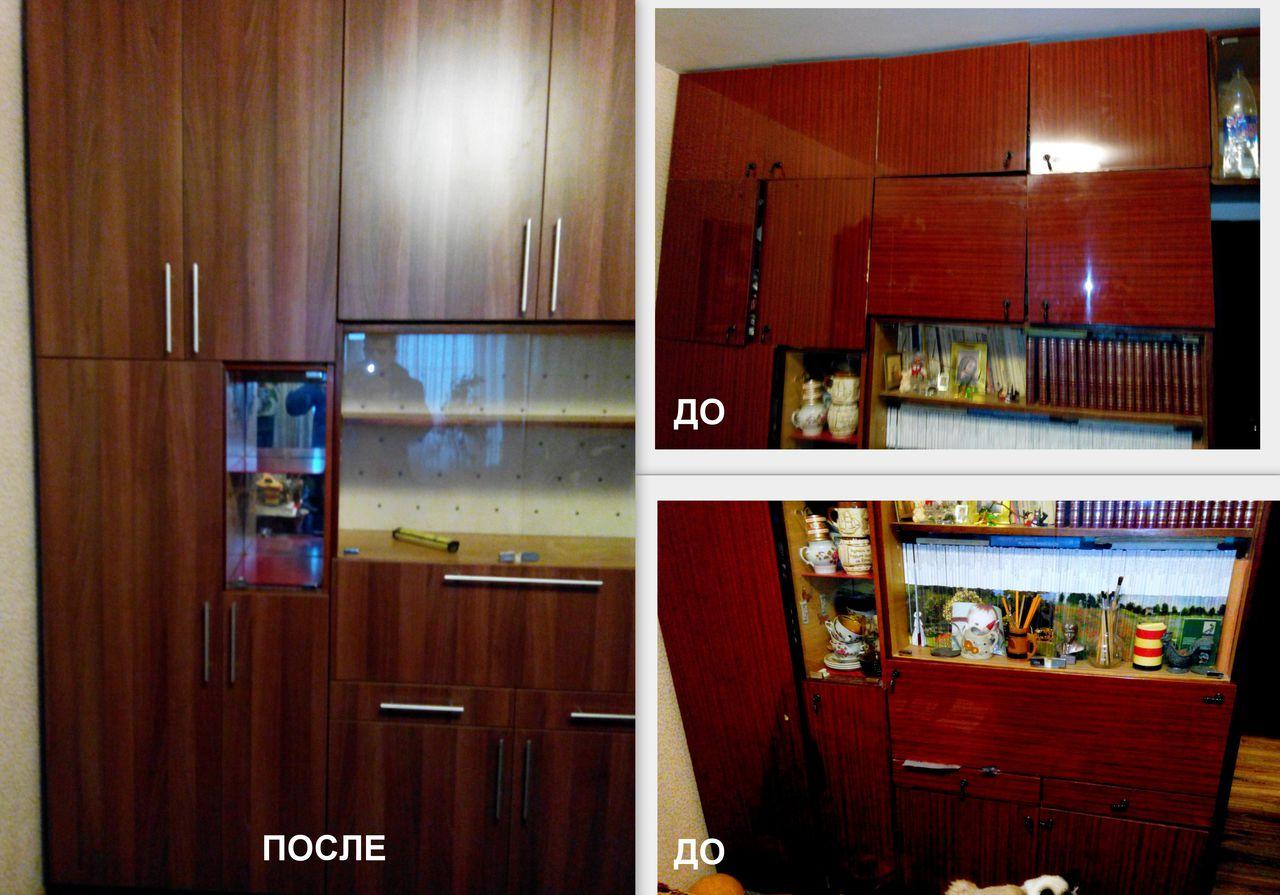 Обновление фасадов старой мебели..