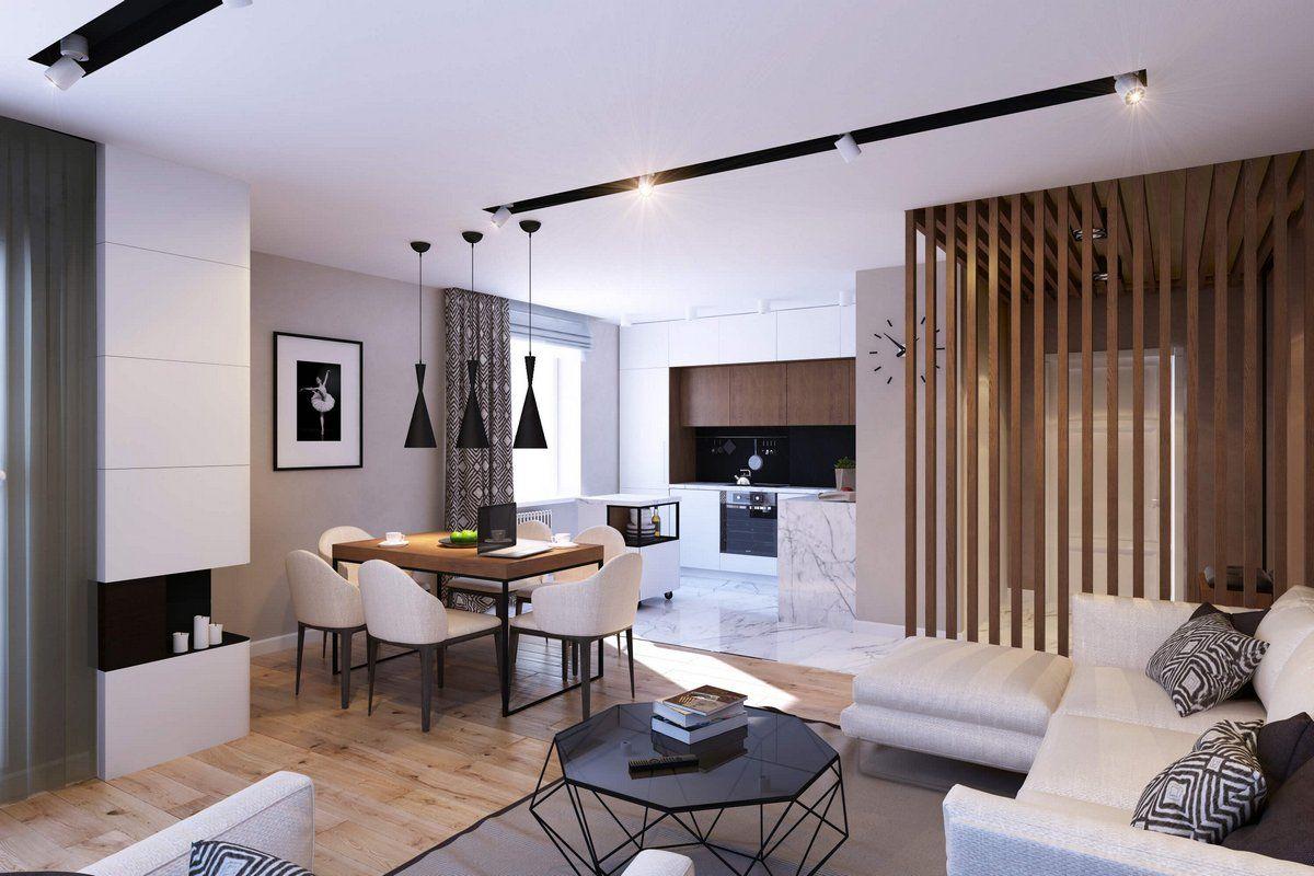 современный дизайн однокомнатных квартир фото