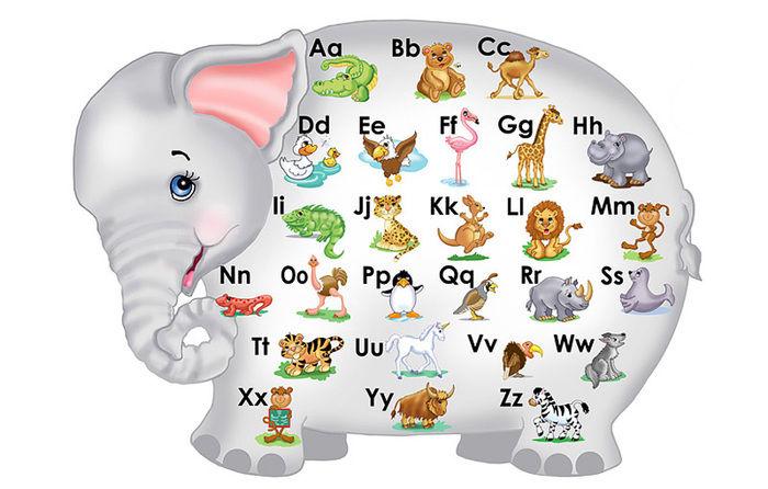 Картинки животных для детей в английском алфавите