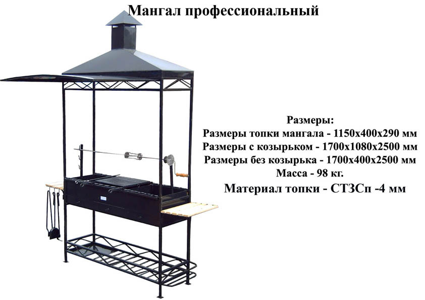 Стационарные мангалы схема