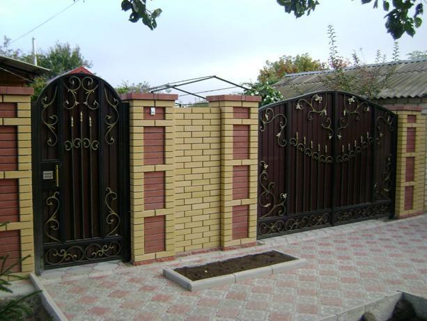 заборы и ворота на даче фото цена в днепропетровске