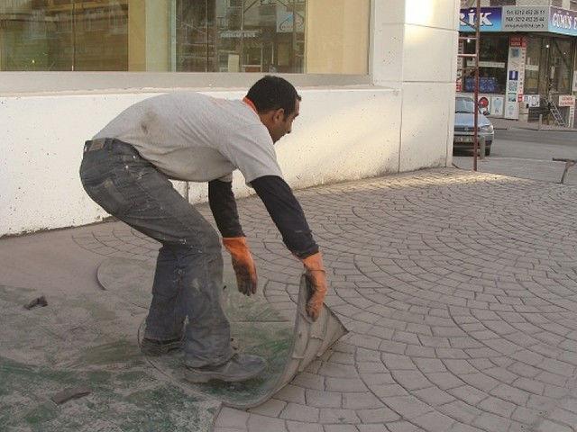 Штамп на бетон своими руками видео