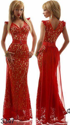 Вечерние платья длинные с гипюром