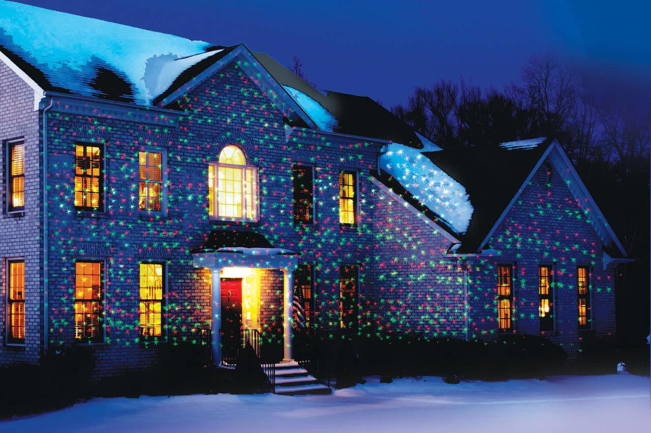 Лазерный проектор для Рождества в Переславле-Залесском