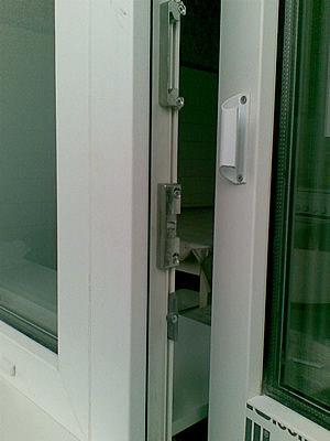 Балконная ручка курильщика(ракушка) алюминиевая и защелка. к.