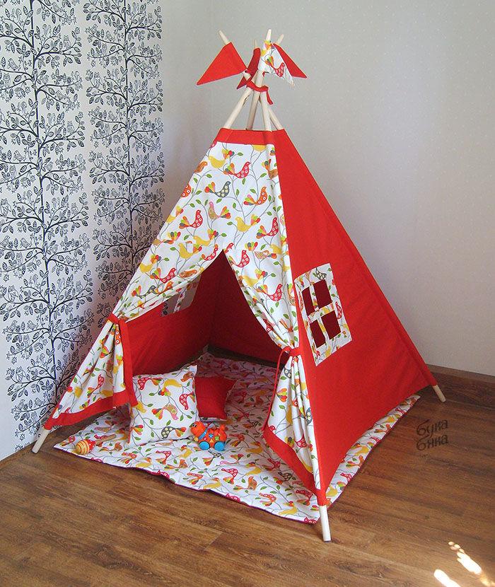 Детский домик-палатка своими руками 72