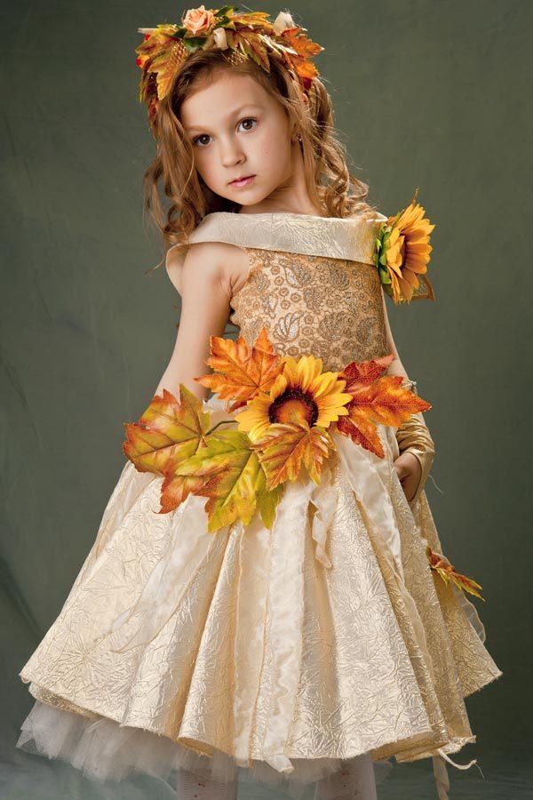 Осеннее платье своими руками на праздник