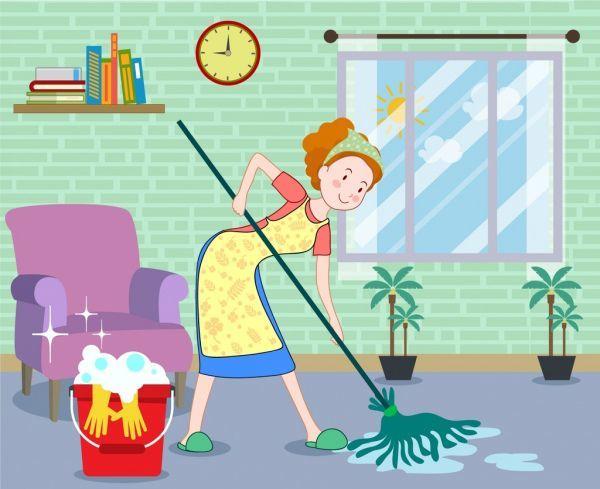 Картинка про уборку комнаты