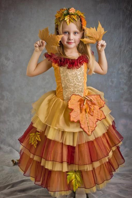 Платье осень для утренника своими руками 39