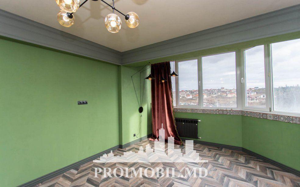 С Рэдэуцану 3 комнаты+гостиная, 82 квм, евроремонт