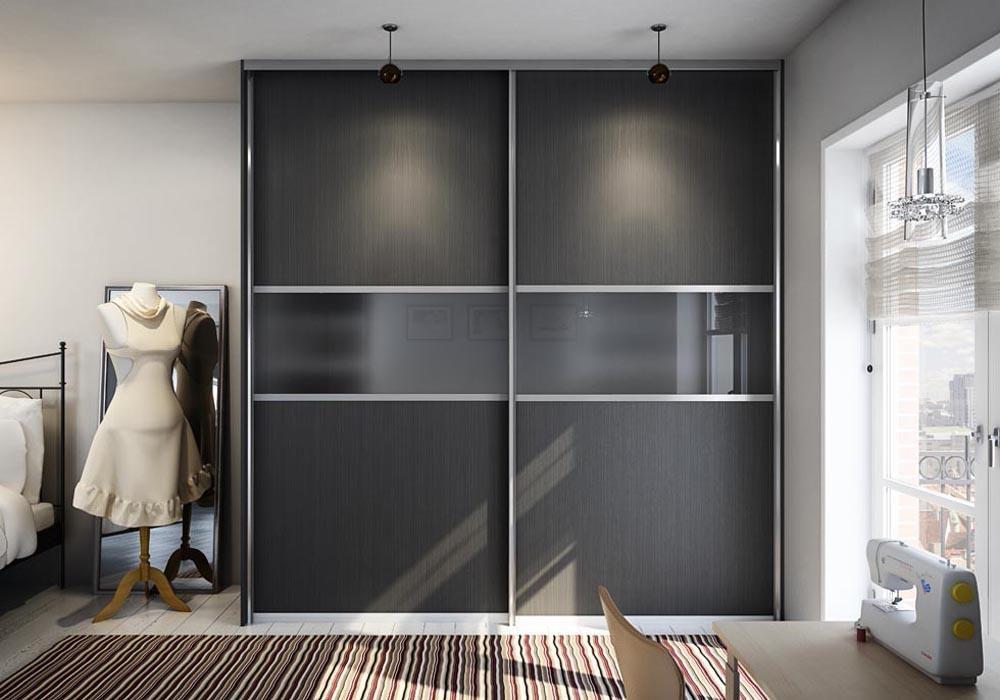 Дизайн дверей шкафа купе матовое стекло.