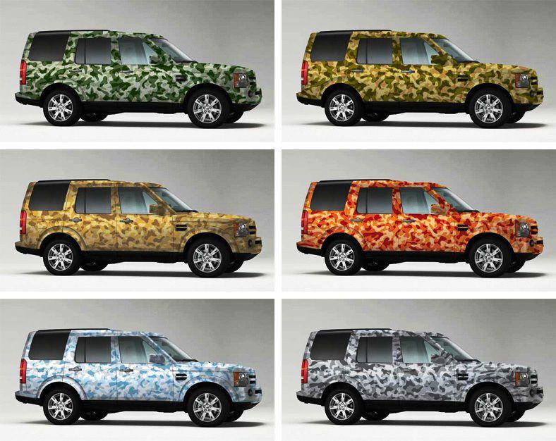 Как сделать камуфляж для авто