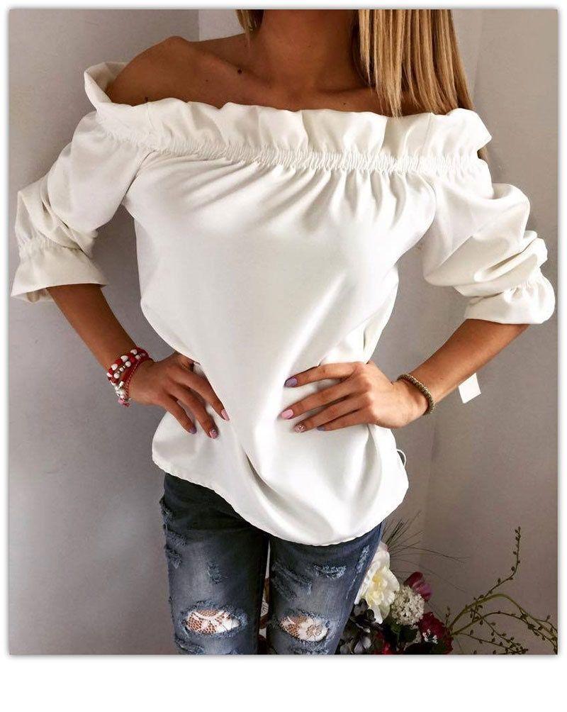 Сшить блузку с открытыми плечами