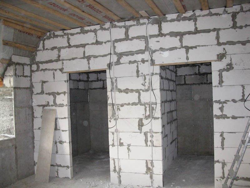 межкомнатные перегородки из блоков