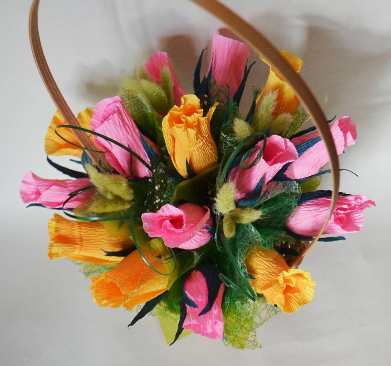 Букет из цветов своими руками мастер класс из бумаги