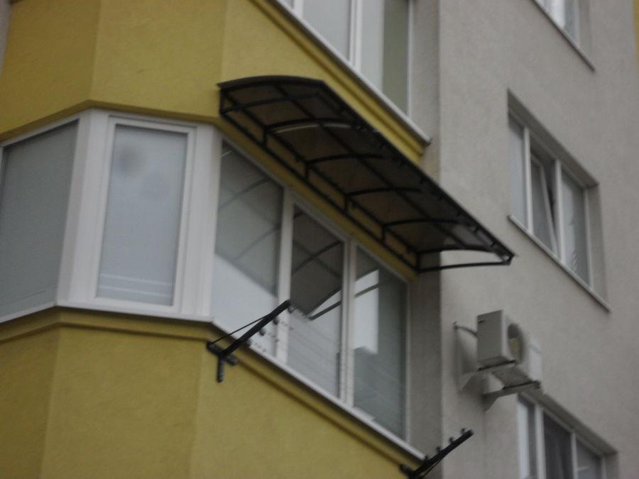 Балконные козырьки установка. - оригинальные балконы - катал.