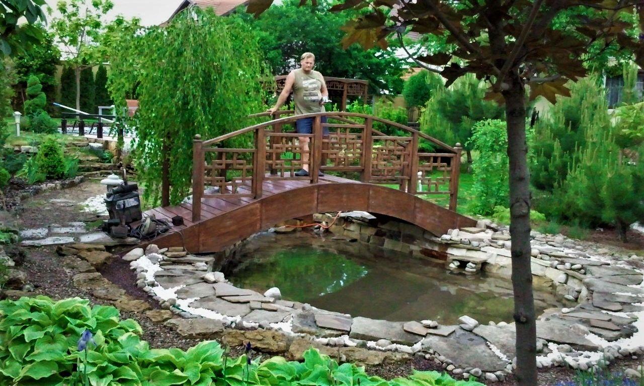 оранжереи с ручьем мостиком и фонтаном фото наш канал