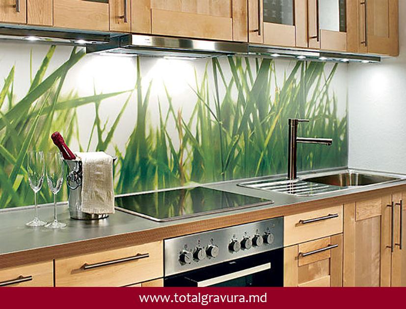 Glasbilder modern kuche
