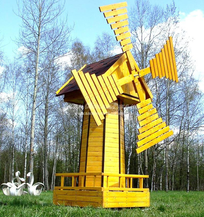 Декоративная мельница для сада своими руками. Фото