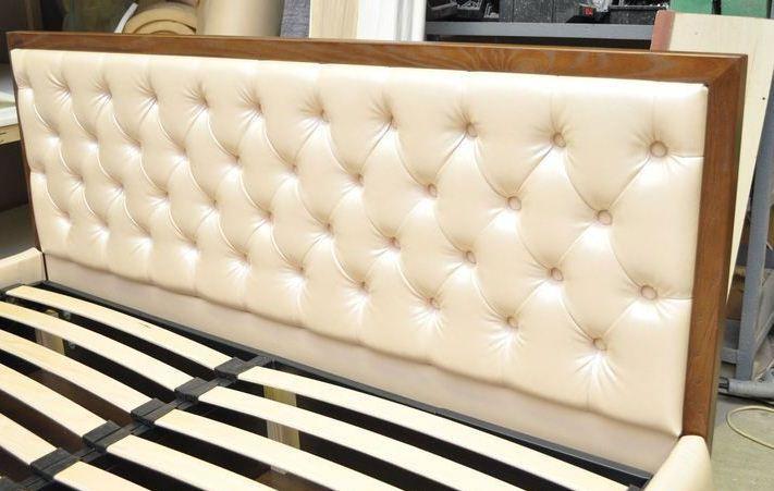 Как сделать кровать из кожи 464