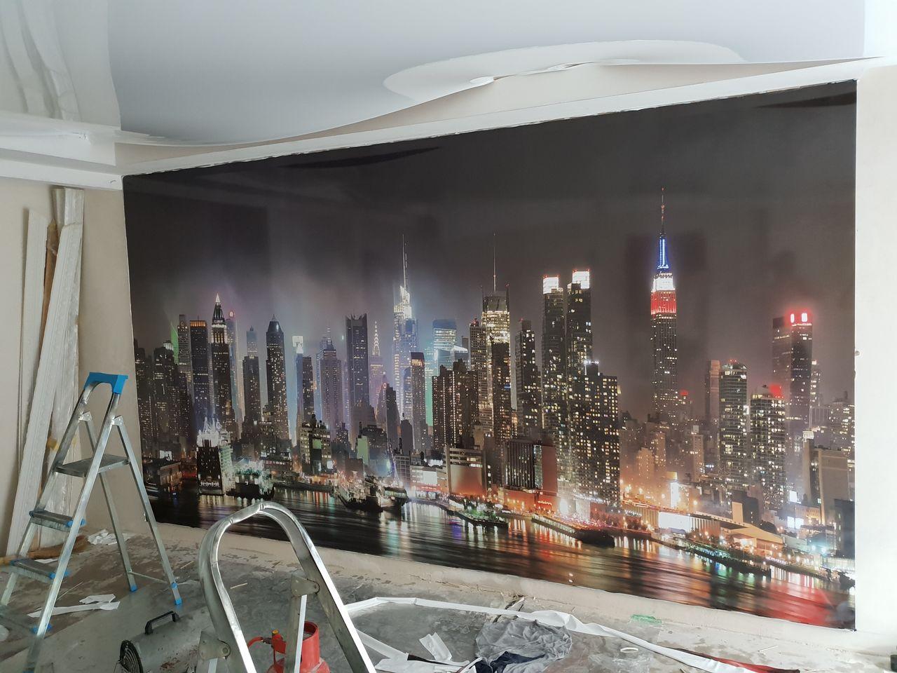 Натяжные стены с фотопечатью спб