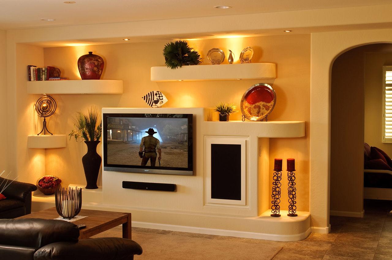 Ниши для телевизора на стену из гипсокартона своими руками