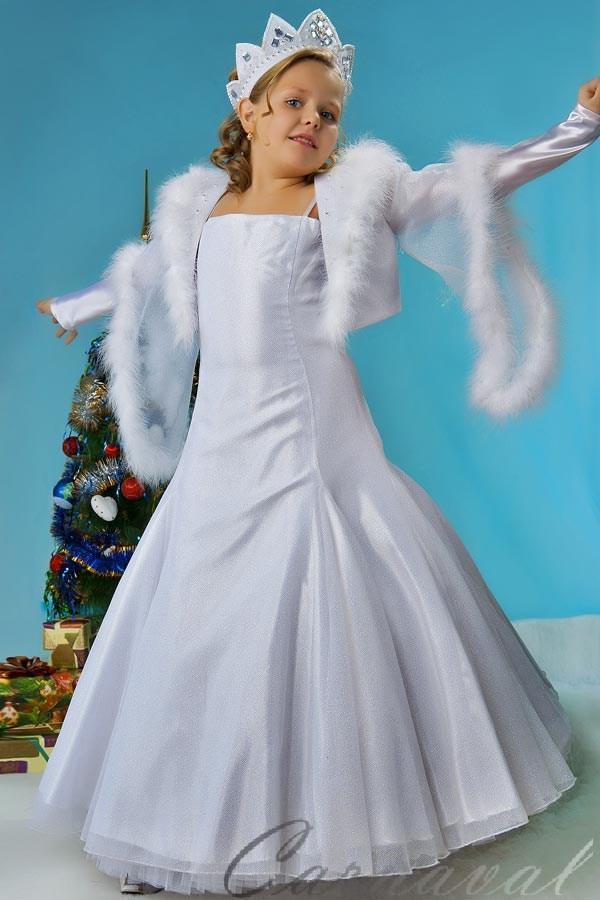 Платье снежная королева для девочки своими руками