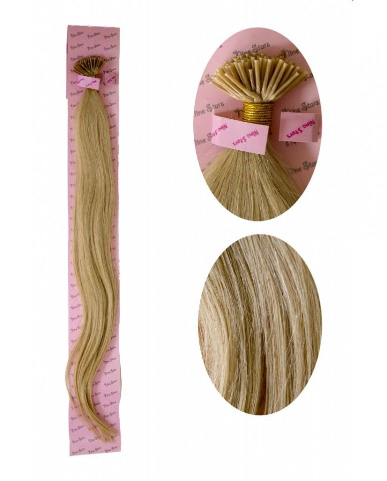 Extensii Microrings Par Natural Blond 65cmextensii Keratina Par