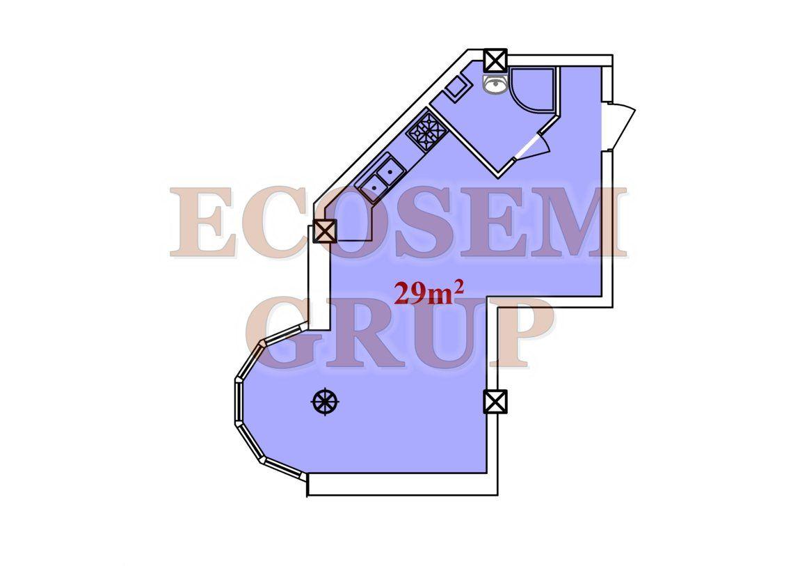 Bloc Nou Apartamente tip studio 18 m2 — 29 m2 Новострой Квартиры-студии 18 м2 – 29 м2