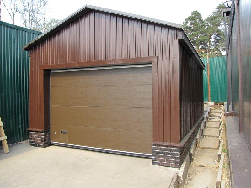 как построить гараж из профлиста
