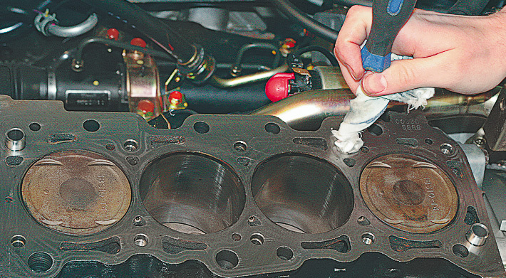 Замена прокладки гбц на 405 двигателе своими руками