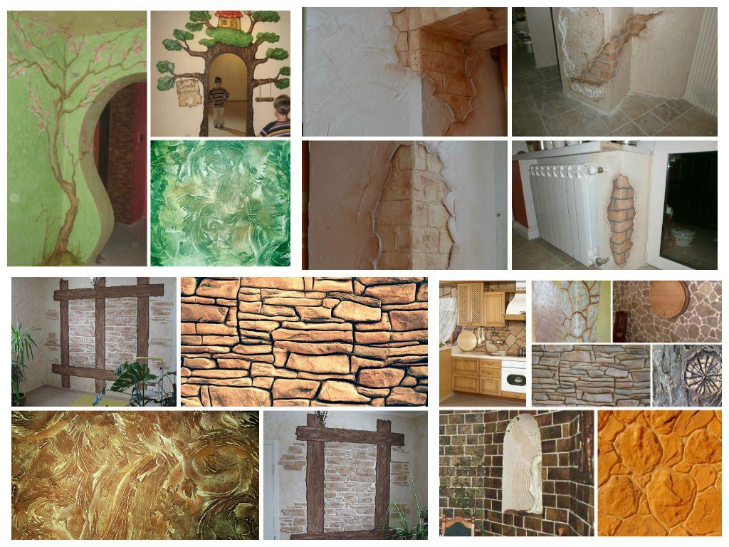 Имитация камня на стене своими руками из штукатурки 20