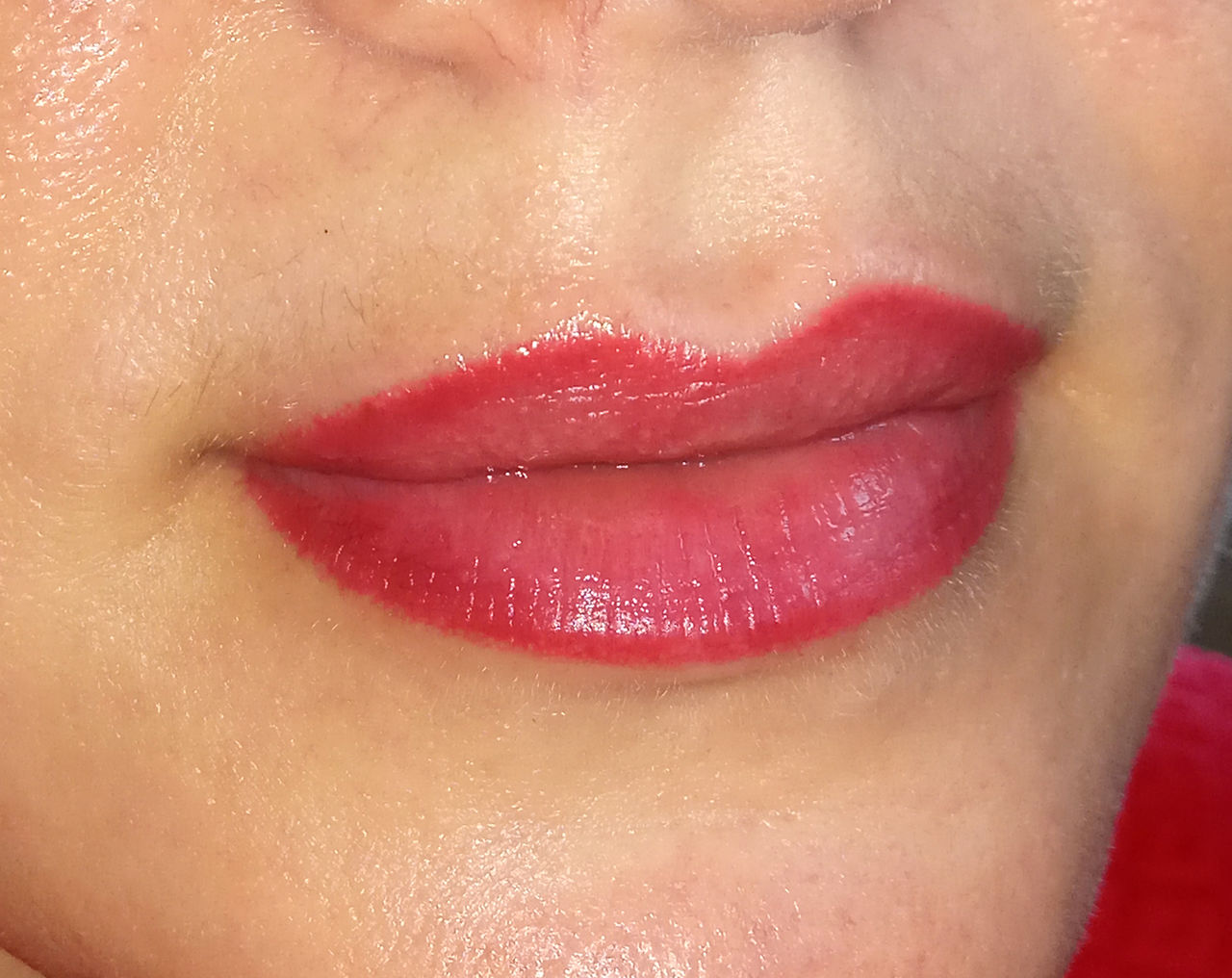 Перманентный макияж губ эффект карандаша