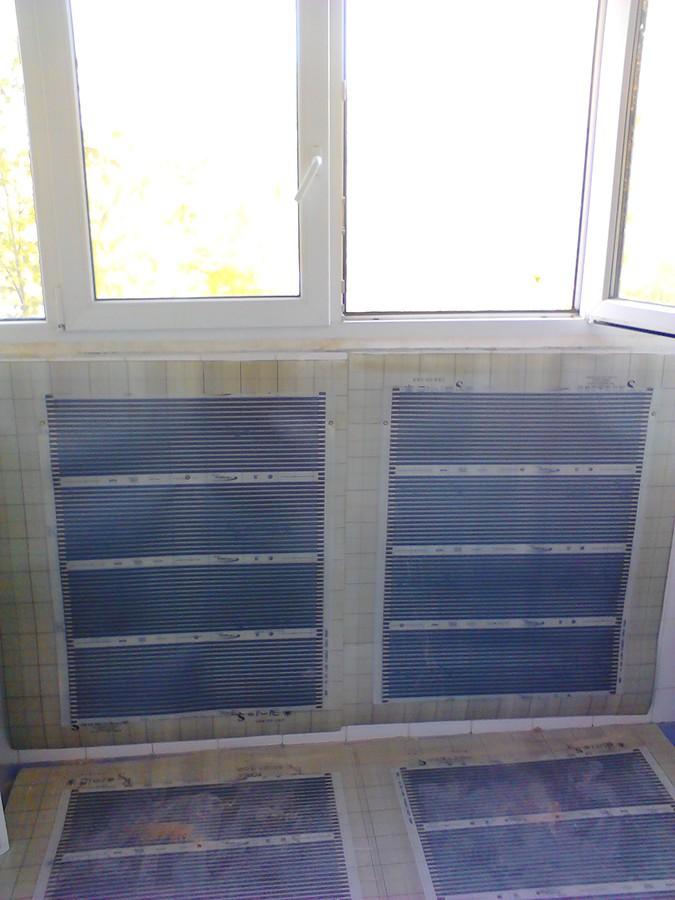 Обогрев балконов и лоджий - теплый пол за один день.