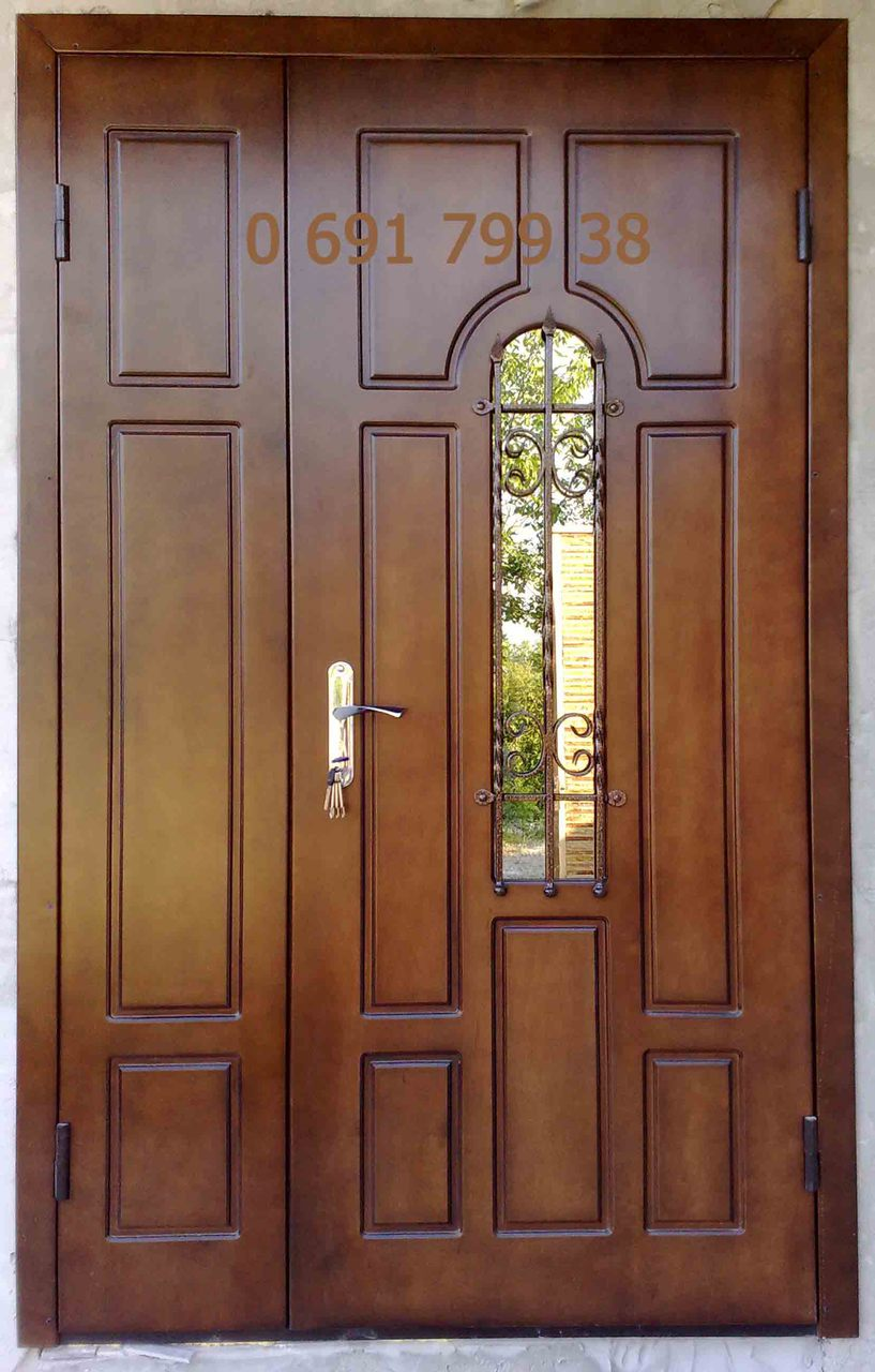 двойная дверь входная подъездная