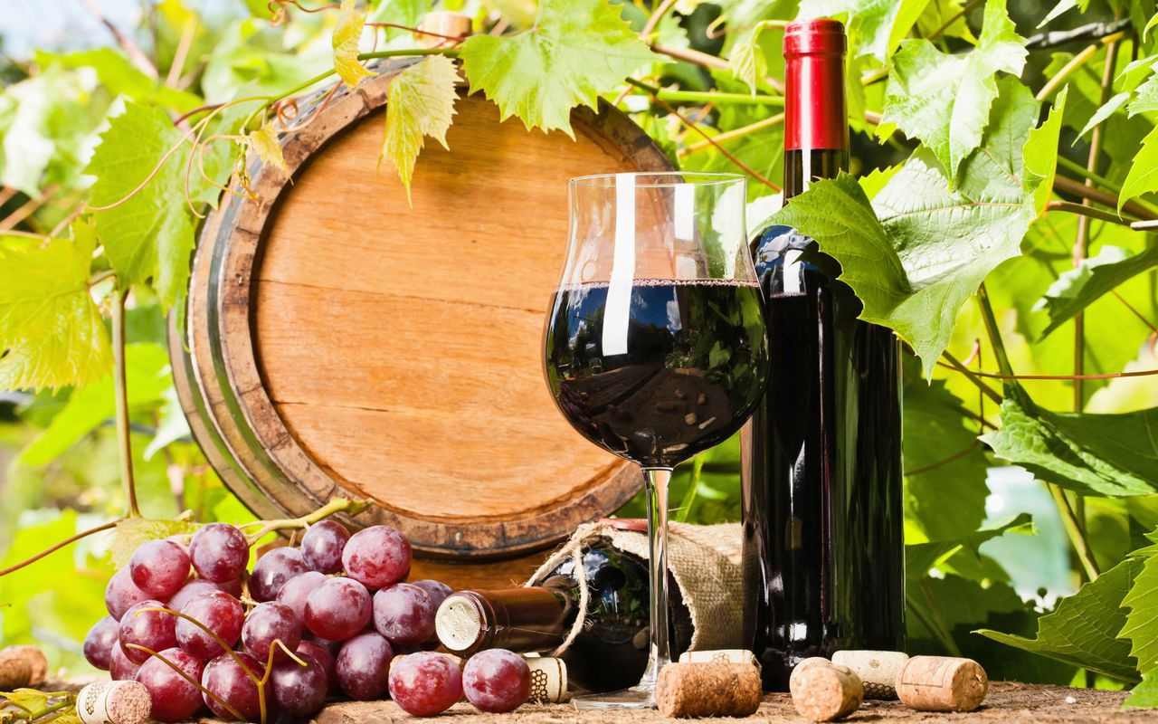 Картинки с виноградом и вином, своими руками