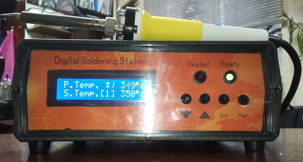 Паяльная станция на atmega8 с энкодером
