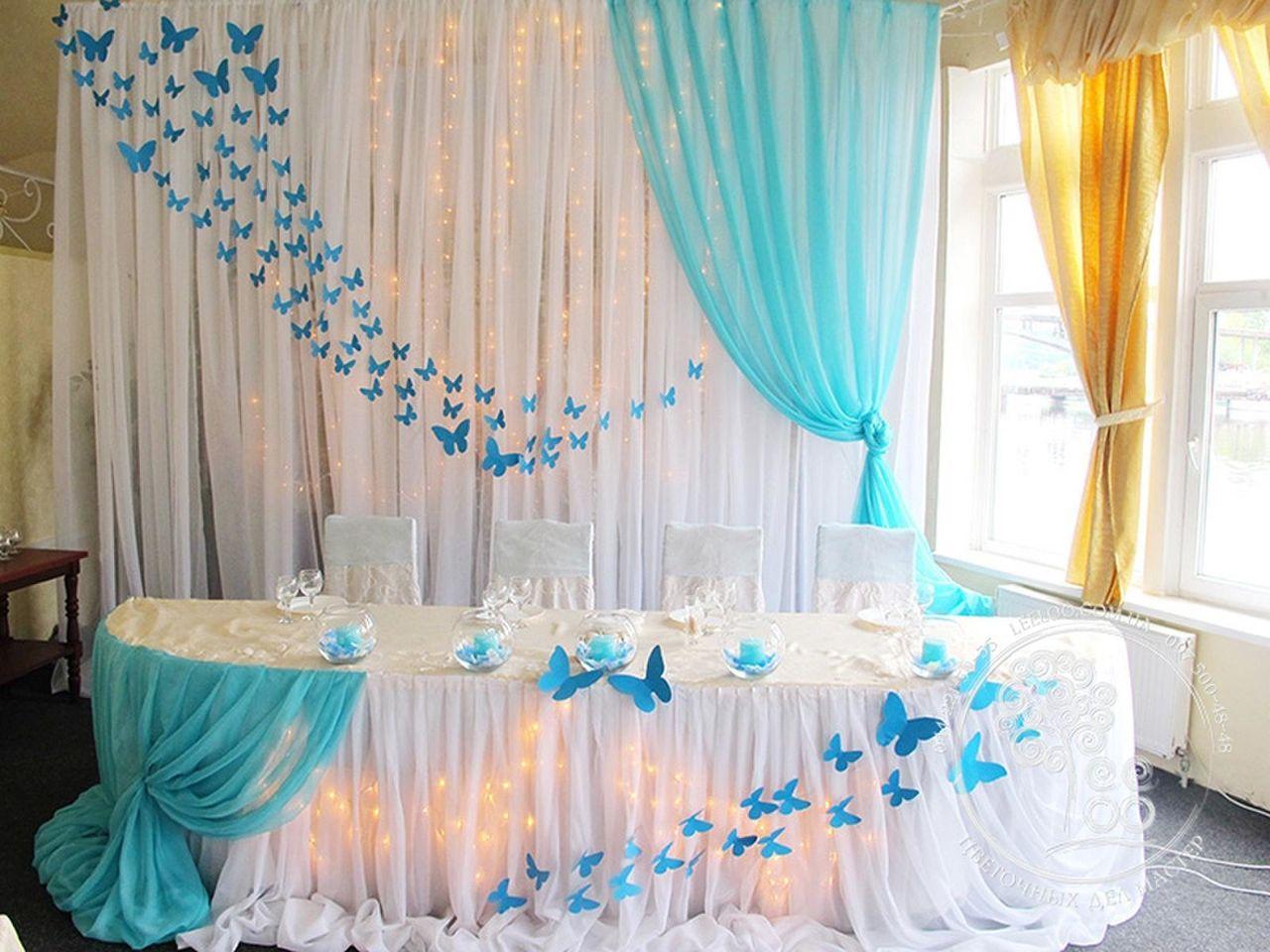 Свадебный стол жениха и невесты своими руками