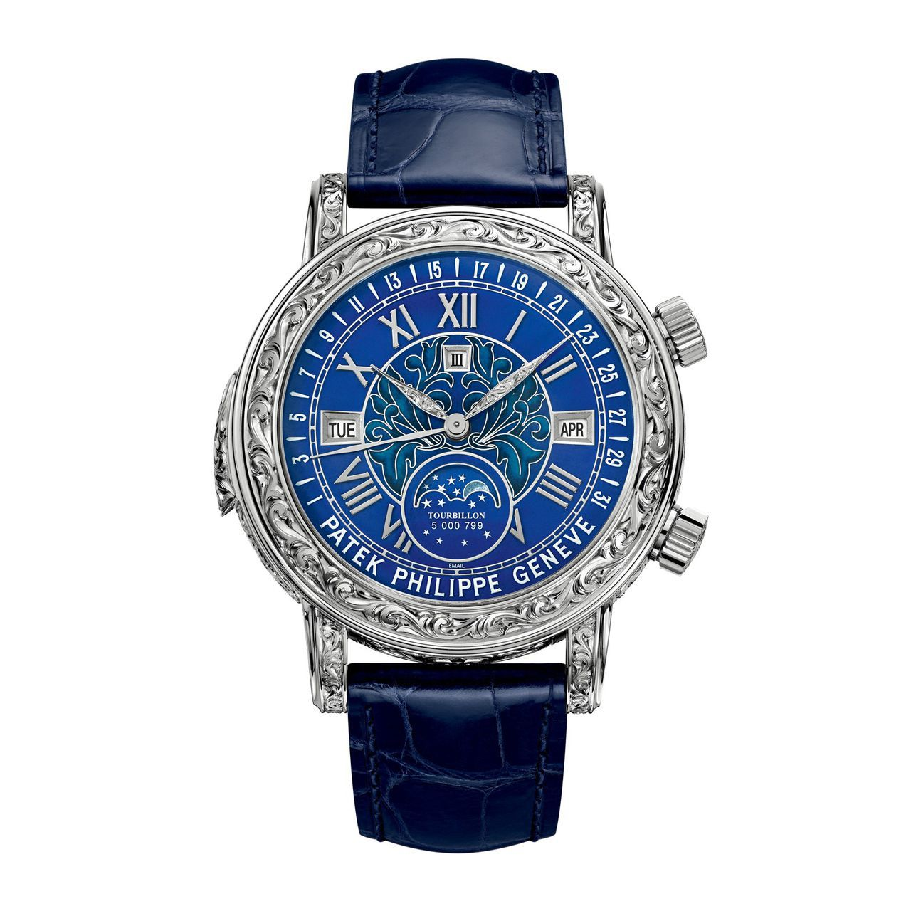женщина, приобретая patek philippe sky moon tourbillon watch многих
