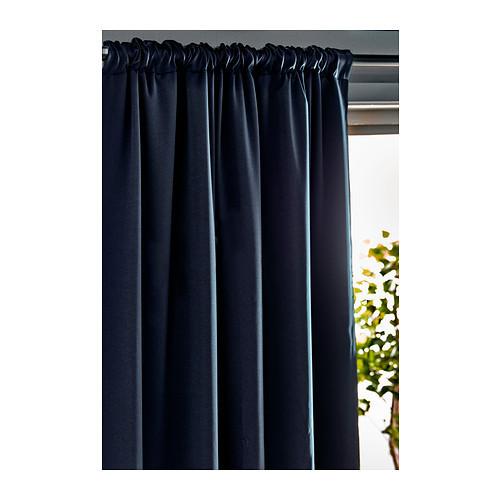 Blue curtains ikea