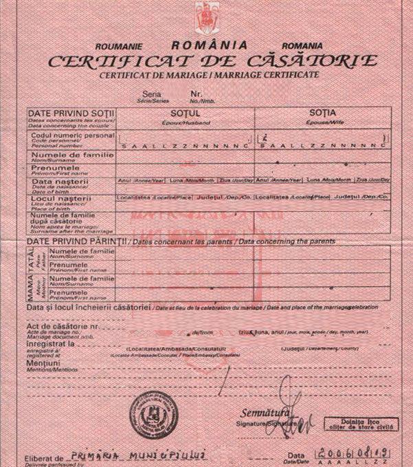 Certificat de na tere c s torie rom ne ti for Certificat de precompte