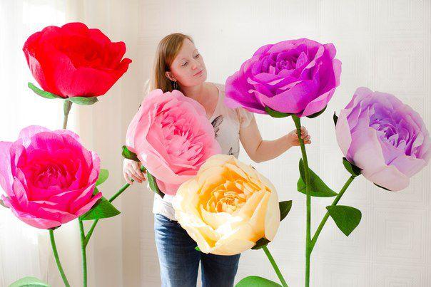 Цветами из бумаги своими руками фото
